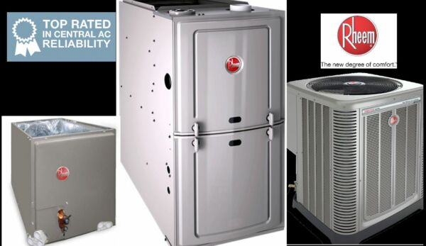 5 Ton R410A 14SEER Complete AC & Heat System Condenser & Evap Coil & Furnace