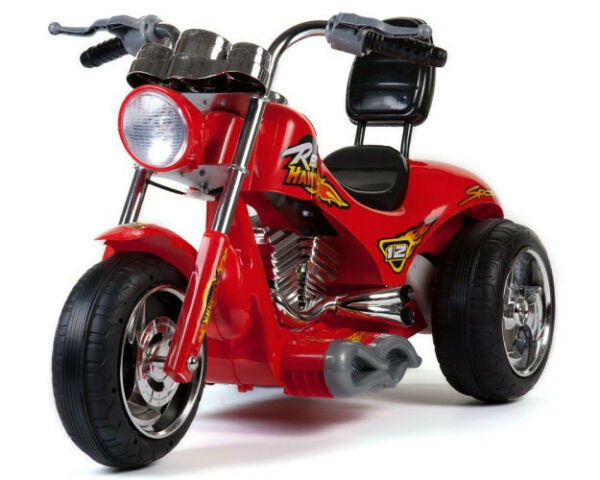 Mini Motos Red Hawk Motorcycle 12v Red or Yellow - Ride On - MM-GB5008
