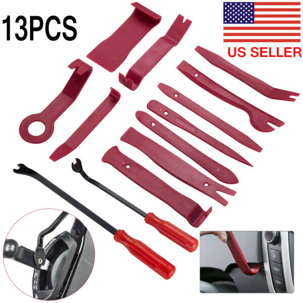 Car Trim Removal Tool Kit Set Door Panel Auto Dashboard Plastic Interior 13pcs