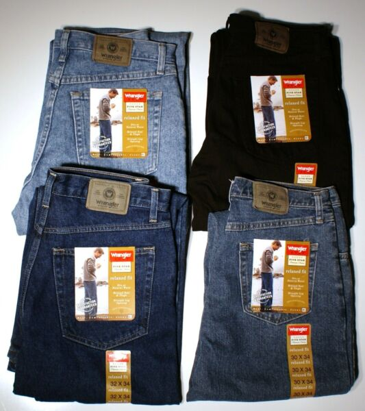 New Wrangler Relaxed Fit Jeans Men#x27;s Big and Tall Sizes Four Colors Available