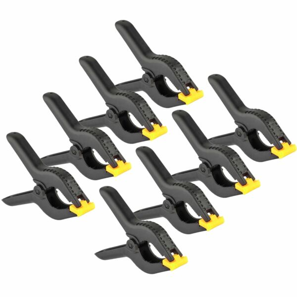 8 Pcs 6quot; inch Heavy Duty Plastic Spring Clamps Tips Tool Clip 2.5quot; Jaw Opening