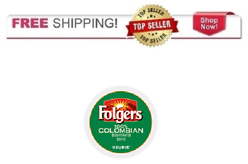 NEW Keurig Folgers 100% Colombian DECAF 24 k-cups Coffee