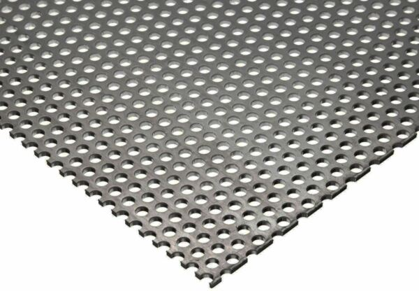 304 Stainless Steel Perforated Sheet .035quot; 20 ga. x 8quot; x 12quot; 1 8quot; Holes