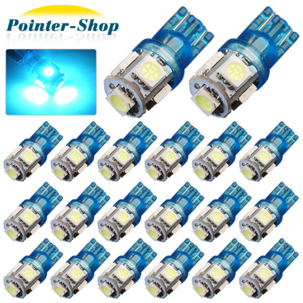 20x ICE BLUE T10 194 5-SMD LED LICENSE TAG/MAP/DOME INTERIOR LIGHT