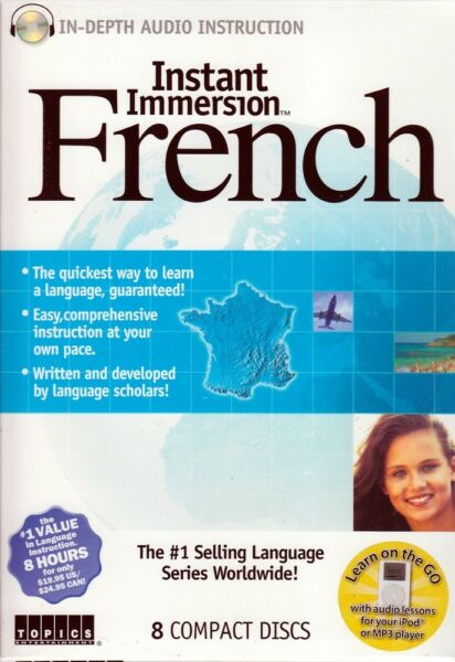 Instant Immersion FRENCH Language 8 Audio CDs listen amp; learn in your car $12.99