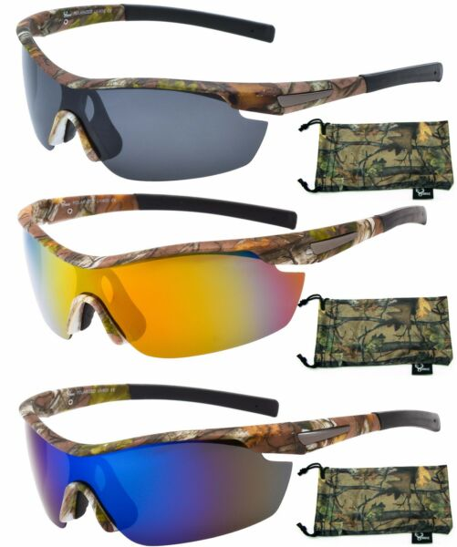 Hornz Polarized Camouflage Sunglasses Forest Camo Sport Wrap Around HZ98001-04