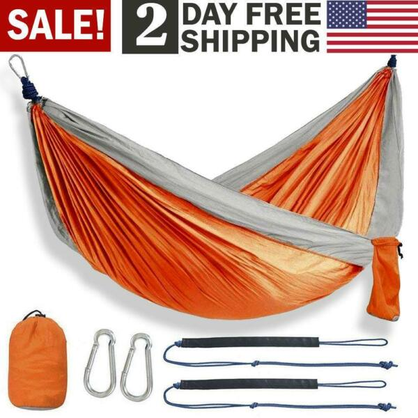 Enjoy Portable Parachute Nylon Fabric Travel Camping Hammock For Double Two $19.95
