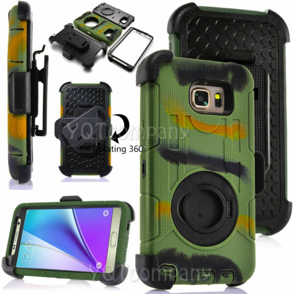 Camo For Samsung Galaxy Note 5 Phone Case Shockproof Cover w Belt Clip Holster