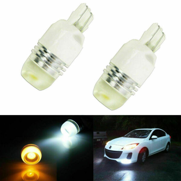 2x High Power 7443 Switchback WhiteAmber LED Bulbs For Front Turn Signal Lights