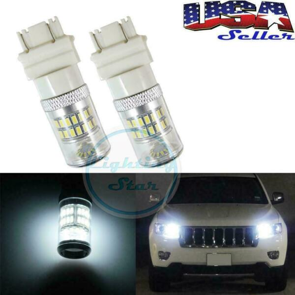 2x White 48-SMD LED Bulbs Daytime Running Lights backup listing