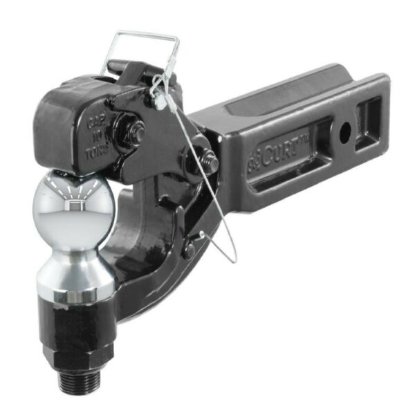 Curt 48012 Trailer Hitch Ball Mount amp; Pintle Combination for 2.5quot; Receivers $112.81