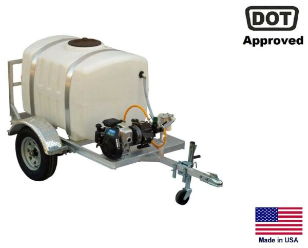 SPRAYER Commercial - Trailer Mounted - 7 GPM - 200 Gallon Tank - Highway Ready
