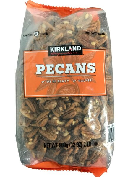 Kirkland Signature Pecan Halves U.S. #1 Fancy Pecans 32 oz Pack 2 LB $21.45