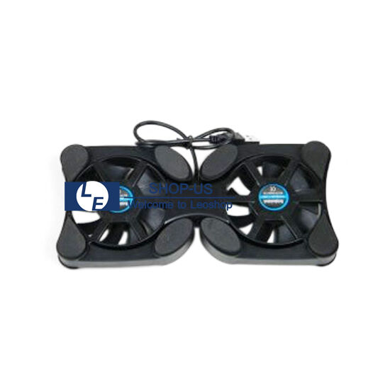 New USB Folding Mini Cooler Cooling Pad With 2 Fans for Laptop Tablet Notebook