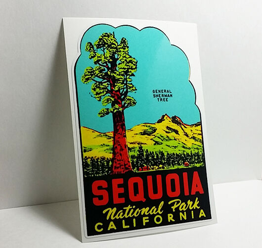 SEQUOIA NATIONAL PARK CALIFORNIA Vintage Style Travel DECAL  Vinyl STICKER