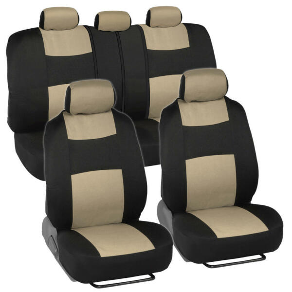 Car Seat Covers for Subaru Outback 2 Tone Beige amp; Black w Split Bench $29.40