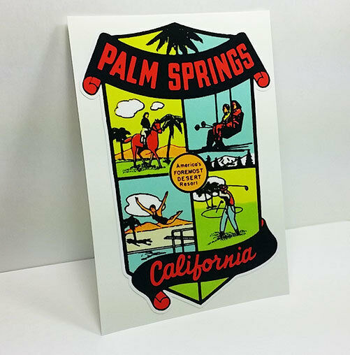 Palm Springs California Vintage Style Travel Decal  Vinyl Sticker