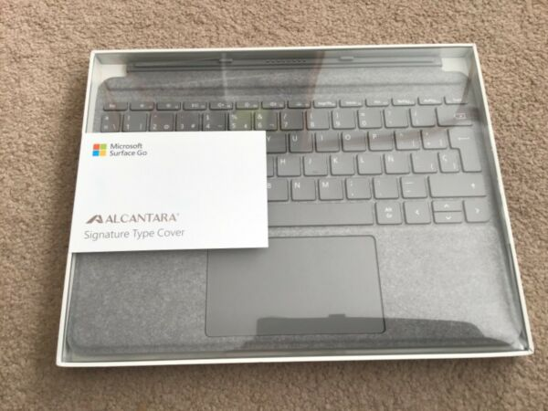 MICROSOFT SURFACE GO SIGNATURE TYPE GO 2 COVER PLATINUM SILVER SPANISH Alcantara