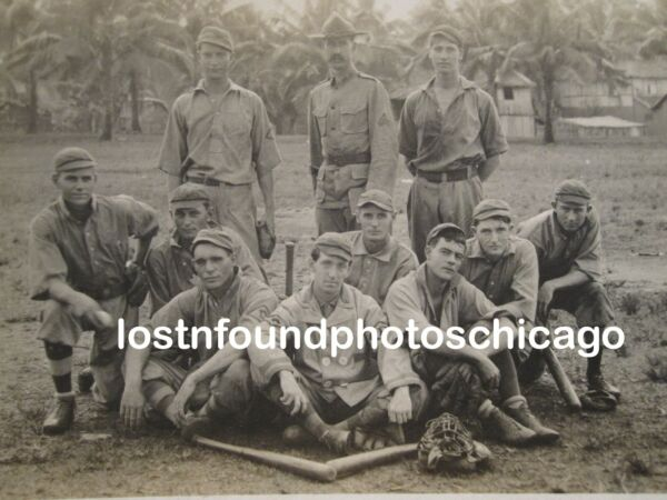 ANTIQUE 1906 - 1909 AMERICAN BASEBALL ARMY CUBA ID'D PLAYER ARTISTIC RPPC PHOTO