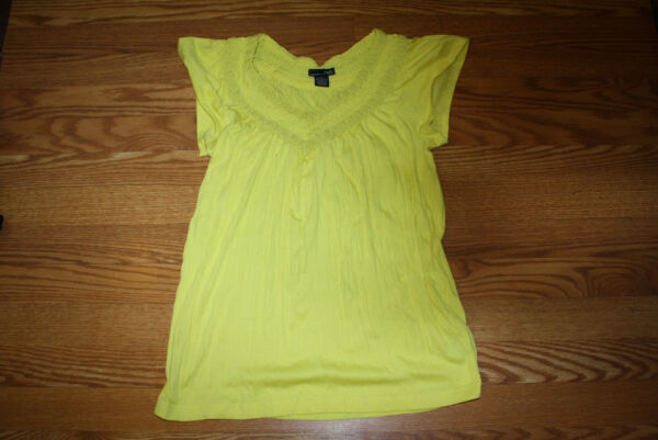 NEW Womens RXB Yellow V Neck Twisted Shirt Size S Small $48