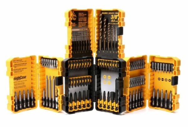 DEWALT power drill / screwdriver wood metal bit set 100 pc piece w/ holder case