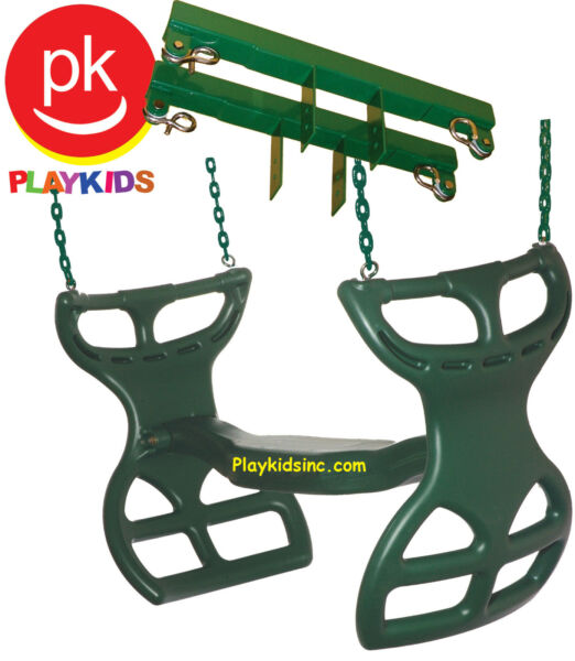 Swing Set Glider Horse Full Coated Chain Bracket Playset Backyard playground Gre