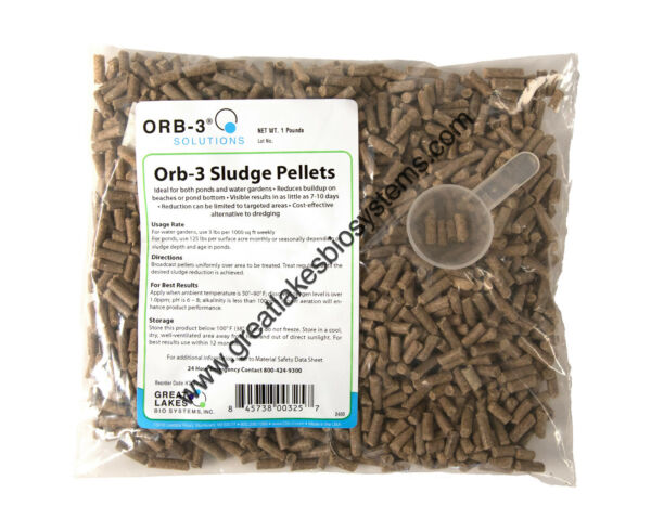 Orb-3 Sludge Pellets (1-Pound Bag Original Formula) H749-000-1LB