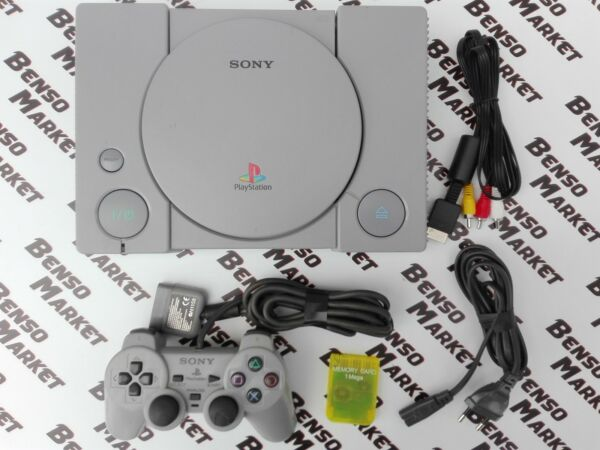 CONSOLE SONY PLAYSTATION PS1 + CONTROLLER e MEMORY CARD LEGGE TUTTO REGION FREE