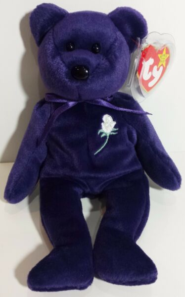 Ty Beanie Baby PRINCESS the Diana Bear from 1997 RARE amp; RETIRED MINT