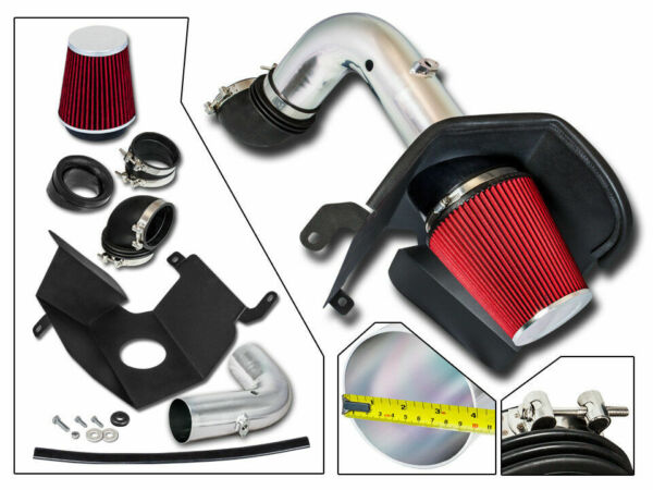 BCP RED 03-07 Dodge Ram 2500 3500 5.9 L6 Diesel Heat Shield Cold Air Intake Kit