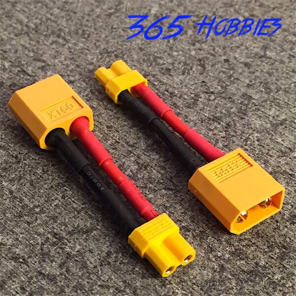 QTY-(2) Male XT-60 to Female XT-30 Connector Adapter Turnigy Drone XT30 XT60 FPV