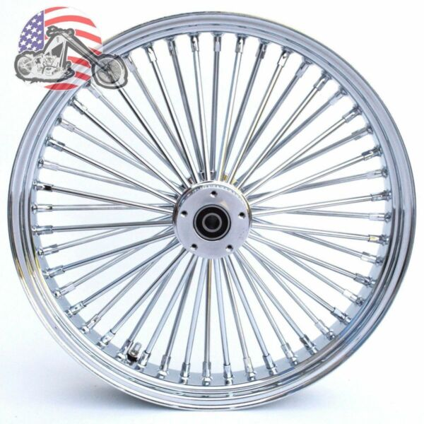 Chrome 21 3.5 46 Fat Daddy King Spoke Front Wheel Rim Harley Touring Dual Disc $319.99