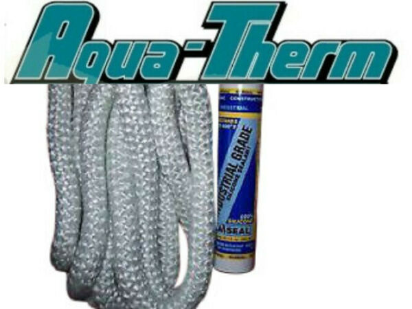 Aquatherm Outdoor Wood Boiler Door Seal Kit With 7#x27; 1quot; Rope and Silicone. $39.95