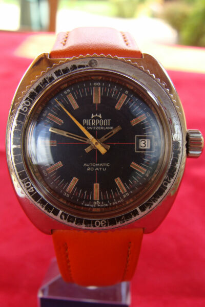 RARO SUB DIVER PIERPONT OF SWITZERLAND 200M 600 FEET CAL. ETA 2783 AUTOMATICO