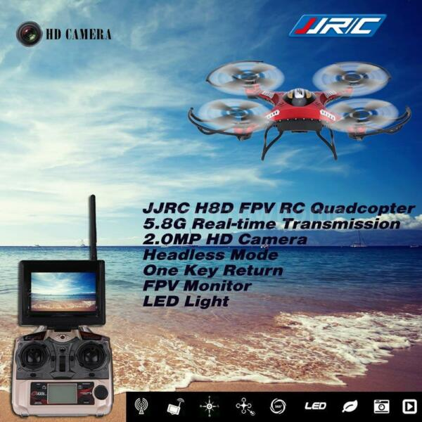 JJRC H8D RC Quadcopter 5.8G FPV RTF Headless Drone 2.0MP Camera Monitor LCD S4H6