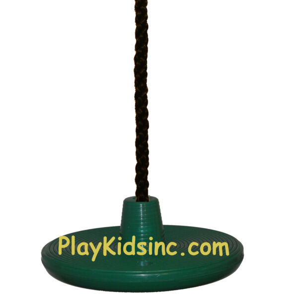 Swing Set Play DISC SWING Seat Tree Swing playgroung backyard spin Disk Green