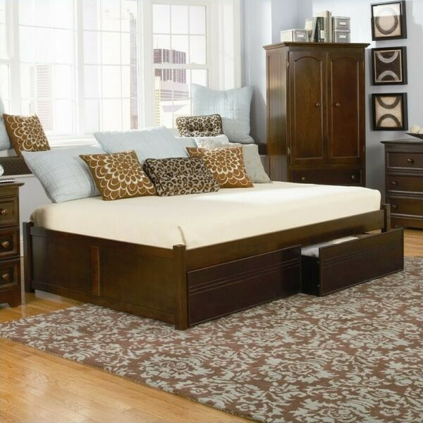 Atlantic Furniture Concord Flat Panel Wood Twin Daybed $292.89