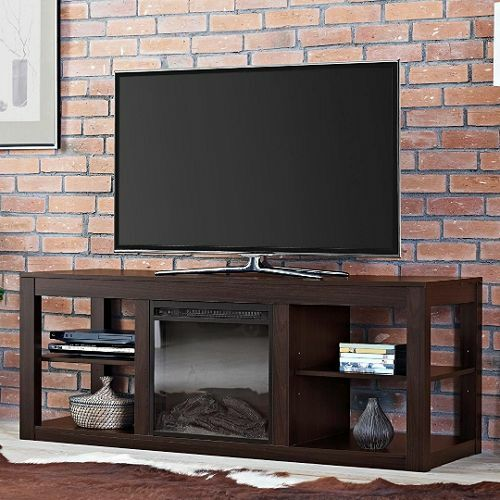 Media Fireplace for TV's up to 65 inch Entertainment Center Electric Console Log