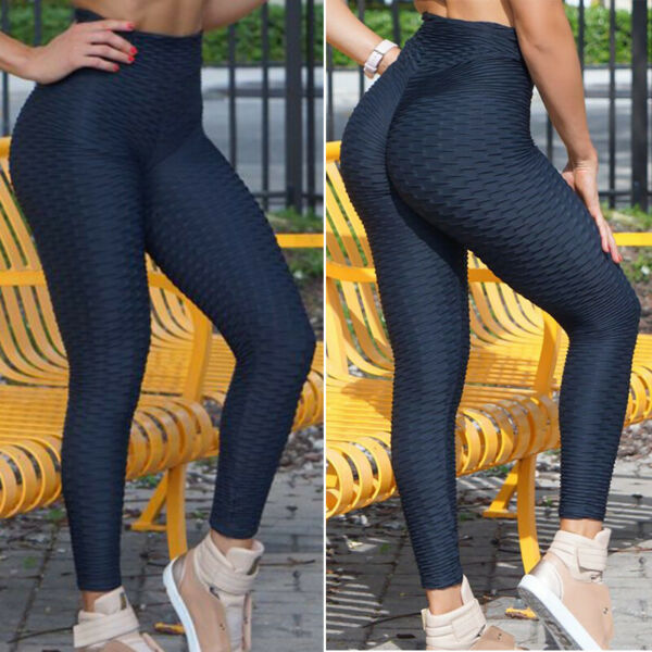 USPS Women High Waist Yoga Fitness Leggings Running Gym Sports Pants Trousers SS