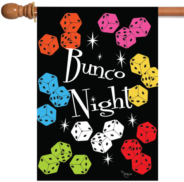 Toland Bunco Night 28 x 40 Colorful Game Dice House Flag
