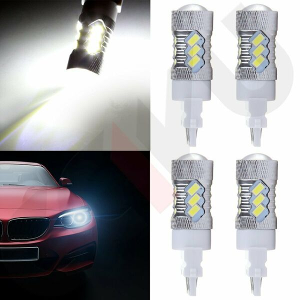4x 3157 Cree LED 15 5730 SMD 6000K Xenon Reverse Backup Bulb Light 4000LM