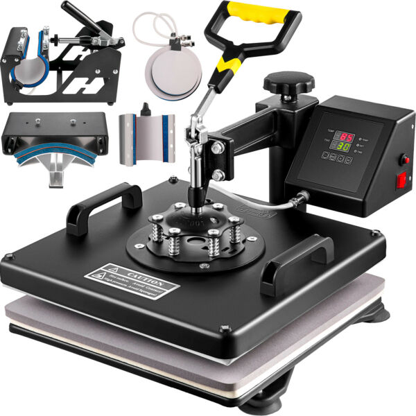 15quot;x15quot; T Shirt Heat Press Transfer 6 in1 Combo Swing Away Sublimation Mug Plate $202.91