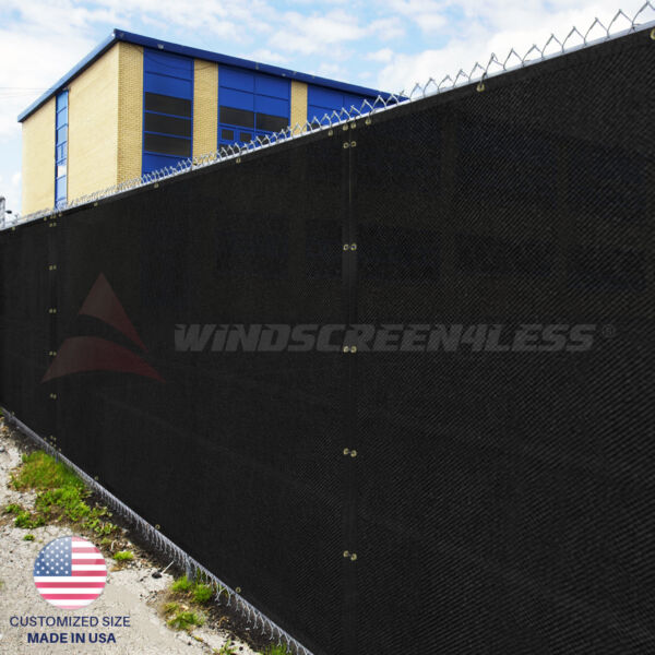 Black Green Beige Brown 4#x27; 5#x27; 6#x27; 8#x27; Fence Privacy Wind Screen Mesh Shade Cover