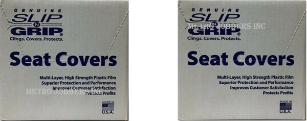 2 Boxes Slip N Grip Plastic Disposable Seat Covers Qty 500 Virus Protection $99.95