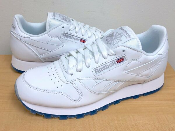 MENS REEBOK CLASSIC LEATHER ICE White/Steel-Ice -AR3781- ATHLETIC