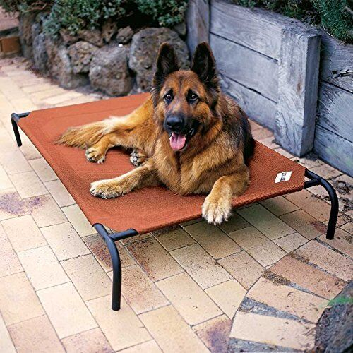 Extra Large Dog Bed Elevated Outdoor Raised Pet Cot Indoor Durable Steel Frame $39.38