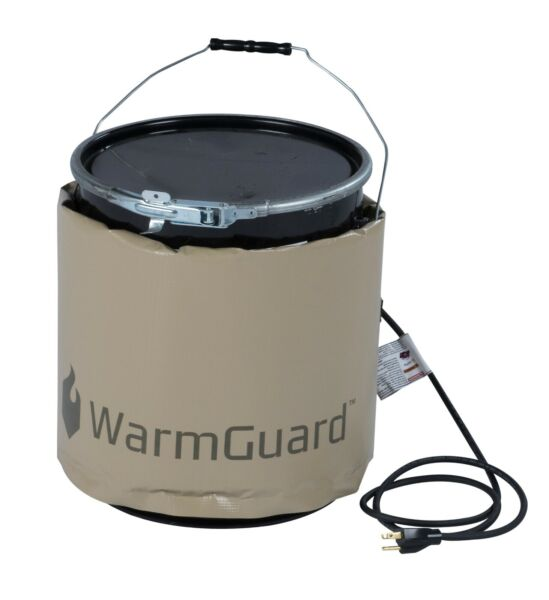 WarmGuard WG05 5-Gallon Insulated Pail Heater - Bucket Heater Fixed Temp 145 °F