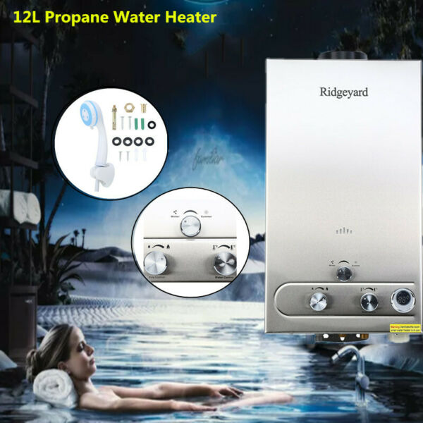 12L 3.2 GPM Tankless LPG Gas Home Hot Water Heater Bathroom Instant Boiler $89.34