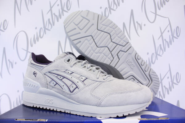 ASICS GEL RESPECTOR SZ 8.5 TONAL PACK LIGHT GREY NAVY BLUE H6B4L 1313