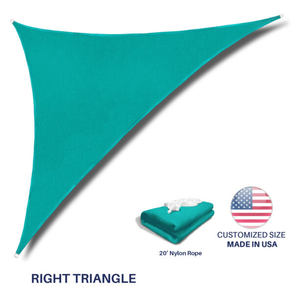 Sun Shade Sail Turquoise Permeable UV Block Outdoor Canopy Awning Pool Patio